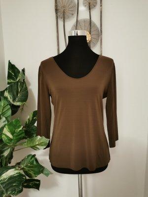 Kathleen Madden Damen Shirt 3/4 Arm Longsleeve braun Größe 38 wie Neu