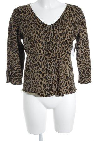 Kathleen Madden Manica lunga Stampa leopardata stile stravagante