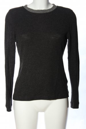 Kathleen Madden Maglione girocollo nero-grigio chiaro puntinato stile casual