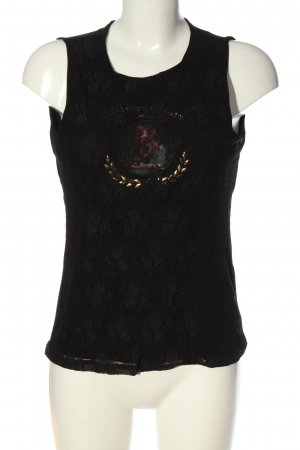 Kathleen Madden Top di merletto Stampa a tema stile casual