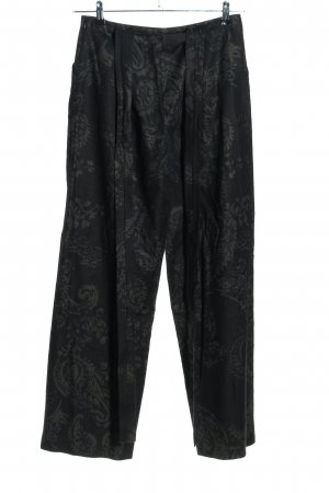Kathleen Madden Pantalone jersey nero-grigio chiaro motivo astratto stile casual