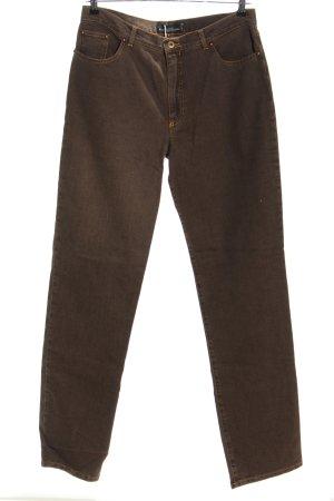 Kathleen Madden Jeans a gamba dritta marrone stile casual