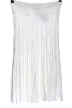 Kathleen Madden Gonna lavorata a maglia bianco stile casual