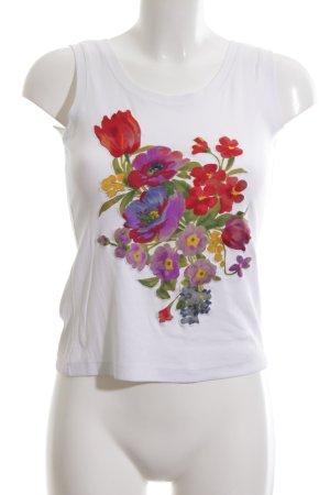 Kathleen Madden Canotta bianco motivo floreale stile casual