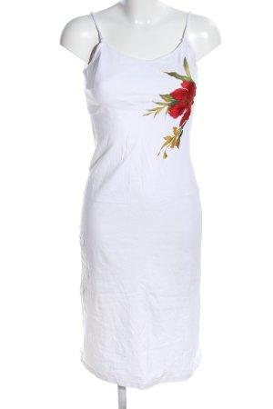 Kathleen Madden Trägerkleid weiß-rot abstraktes Muster Casual-Look