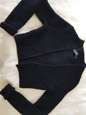 Kathleen Madden Smanicato lavorato a maglia nero