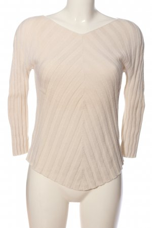 Kathleen Madden Cable Sweater cream casual look