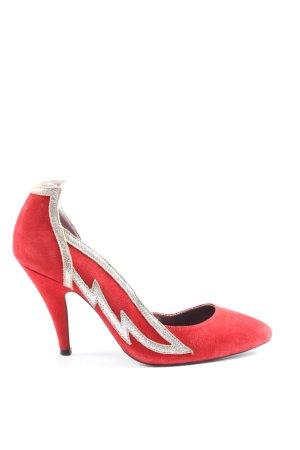 kathryn amberleigh Spitz-Pumps rot-silberfarben Elegant