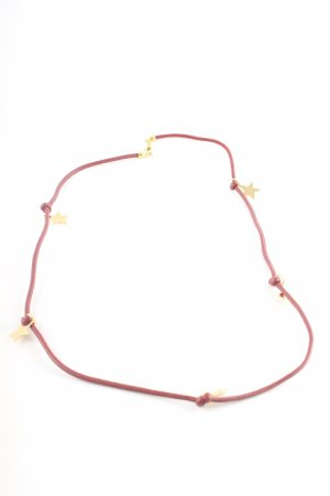Collar rojo-color oro estilo «business»