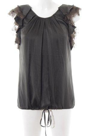 Katia g. ärmellose Bluse dunkelgrün Casual-Look Seide