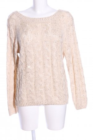 Katsumi Strickpullover creme Zopfmuster Casual-Look