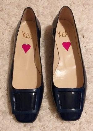 Patent Leather Ballerinas blue
