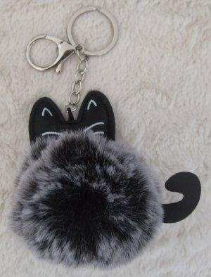 Porte-clés noir-gris