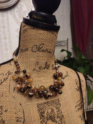 Collar estilo collier taupe-ocre