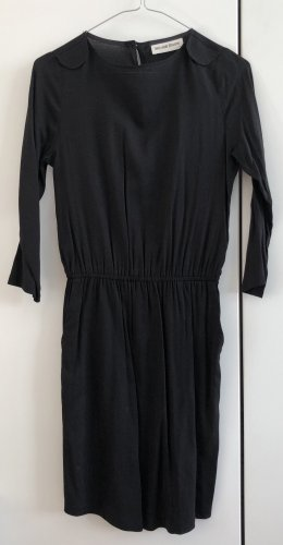 """Kauf dich glücklich """"Juliane Dress"""". Schlicht schönes schwarzes Kleid, 3/4 Arm, Gummizug, XS"""