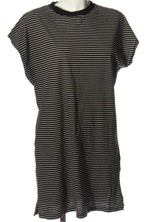 Kauf Dich Glücklich Kurzarmkleid schwarz-weiß Allover-Druck Casual-Look