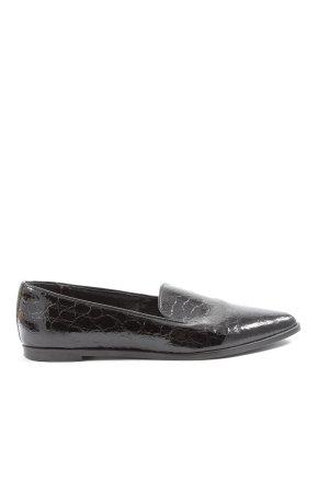 Kauf Dich Glücklich Zapatos formales sin cordones negro estampado de animales