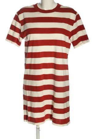 Kauf Dich Glücklich Sukienka o kroju koszulki czerwony-kremowy Wzór w paski