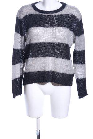 Kauf Dich Glücklich Strickpullover schwarz-weiß Streifenmuster Casual-Look