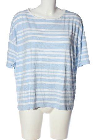 Kauf Dich Glücklich Strickshirt blau-weiß Allover-Druck Casual-Look