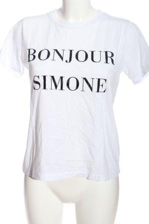 Kauf Dich Glücklich T-Shirt weiß Schriftzug gedruckt Casual-Look