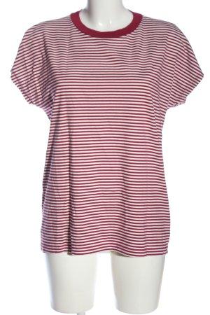 Kauf Dich Glücklich T-Shirt rot-weiß Streifenmuster Casual-Look