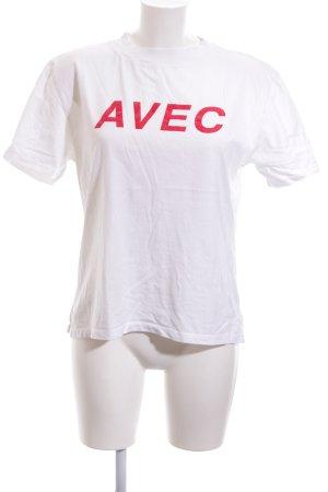 Kauf Dich Glücklich T-Shirt weiß-ziegelrot Casual-Look