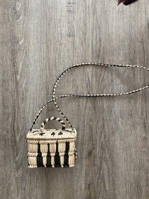 Kauf Dich Glücklich Tasche aus Bast Korbtasche Stroh Tasche Umhängetasche Crossbody Bag Neuwertig