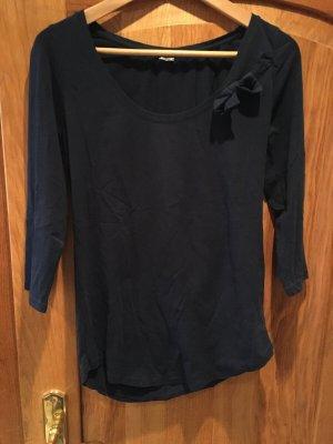 Kaum getragen Zara 3/4 Ärmel shirt dunkelblau
