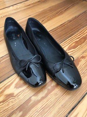 ara Patent Leather Ballerinas black leather