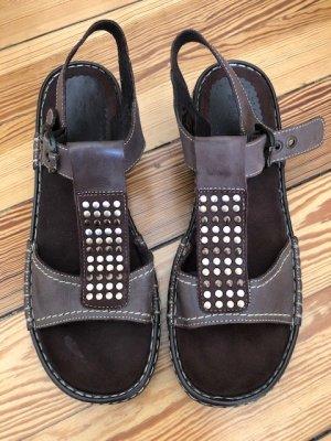 ara Comfort Sandals grey brown-brown leather