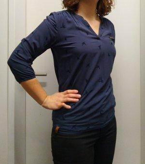 Naketano V-hals shirt zwart-donkerblauw