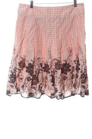 Kavi Faltenrock pink Blumenmuster Casual-Look