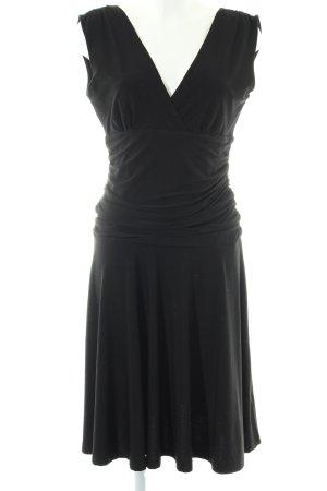 Kavi Stretchkleid schwarz Elegant