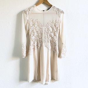 Kaviar Gauche for Zalando kurzes Kleid in creme mit Spitze XS/S 34/36