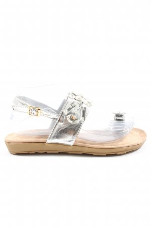 Kayla Sandalias Dianette color plata elegante