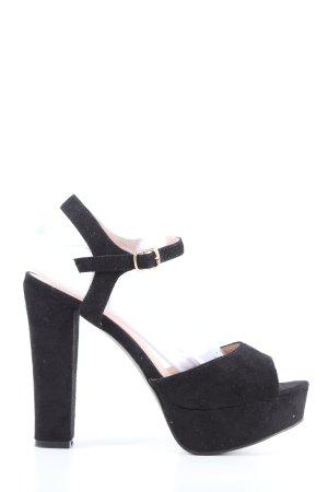 Kayla High Heel Sandaletten schwarz extravaganter Stil