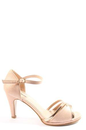 Kayla High Heel Sandaletten creme-goldfarben Elegant