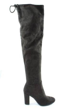 Kayla Botas de tacón alto negro elegante