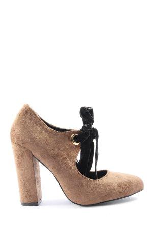 Kayla Chaussure à talons carrés blanc cassé style décontracté