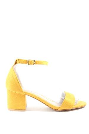 Kayla Riemchen-Sandaletten blassgelb Casual-Look