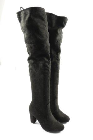 Kayla Shoes Buty nad kolano czarny Elegancki