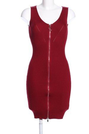 Kayla Stretch jurk rood kabel steek casual uitstraling