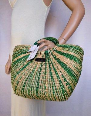 Basket Bag sand brown-green