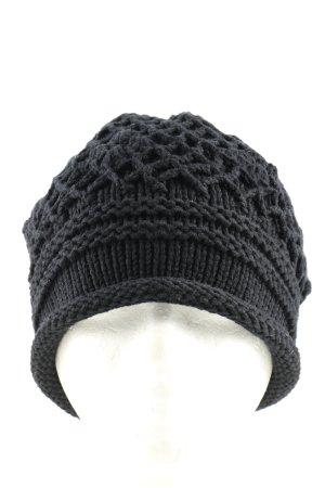 Kbk Sombrero de punto negro punto trenzado look casual