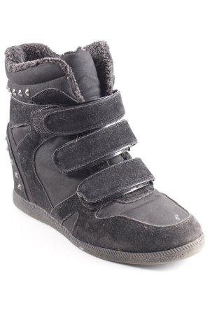 Keddo Halbstiefel schwarz-grau Gothic-Look