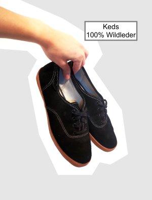 Keds 100% WildIeder Gr. 38 schwarz Sneaker wie Vans Converse
