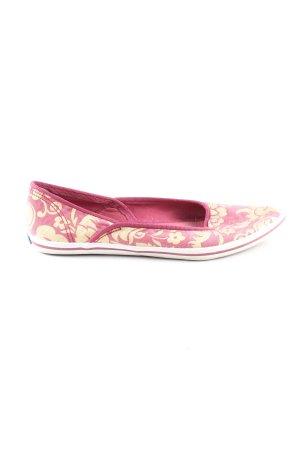 Keds Ballerinas mit Spitze pink-blassgelb abstraktes Muster Casual-Look