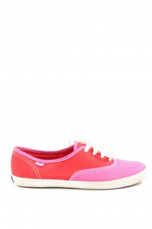 Keds Lace-Up Sneaker red-pink casual look