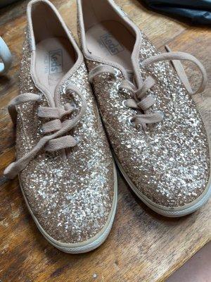 Keds x kate spade sneaker wedding gold glitter